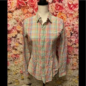 Theory button down shirt size small